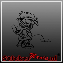 Calvin soldier sticker