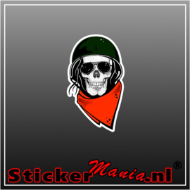 Skull 4 Full Colour sticker