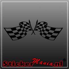 Dubbele vlag 8 sticker