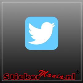 Twitter logo full colour sticker