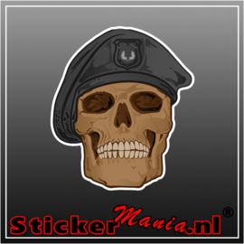 Soldier skull full colour sticker
