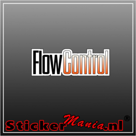 Flow Control Full Colour sticker