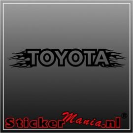 Toyota flames 1 raamstreamer sticker