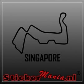 Singapore circuit sticker