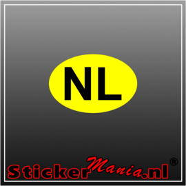 NL Geel Full Colour sticker