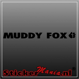Muddy fox sticker
