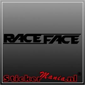 Race face sticker