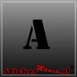A. Stencil plakletter