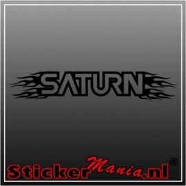 Saturn flames raamstreamer sticker