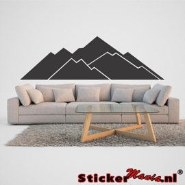Muursticker bergen 1
