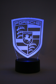 Porsche logo led lamp