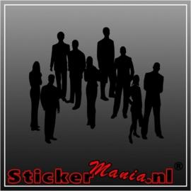 Groep mensen 2 sticker