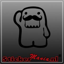 Domo mustache 1 sticker