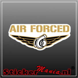 Air Forced Full Colour sticker