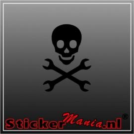 Tools skull sticker
