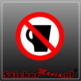 Verboden te drinken full colour sticker
