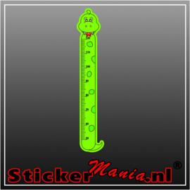 Groeimeter slang sticker