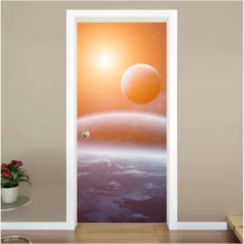Ruimte 2 deur sticker