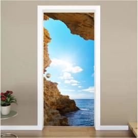 Horizon rots deur sticker