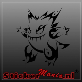 Gengar tribal sticker