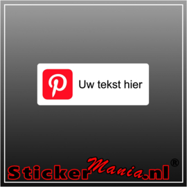 Pinterest logo met eigen tekst