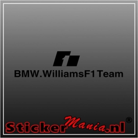 BMW williams F1 team sticker