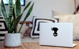 Olifant laptop sticker