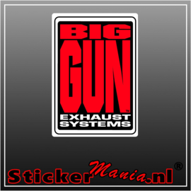 Big gun exhaust full colour sticker