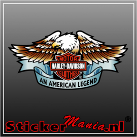 Harley davidson clothes Full Colour sticker