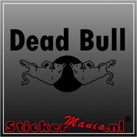 Dead bull sticker