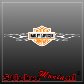 Harley davidson company flames Full Colour sticker