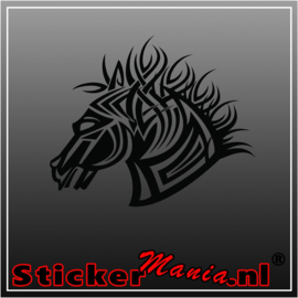 Paard 11 tribal sticker
