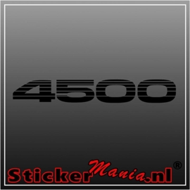 Toyota 4500 sticker