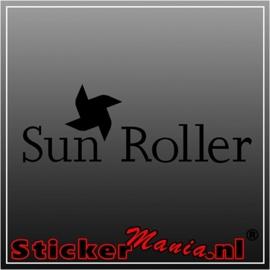 Sun roller caravan sticker