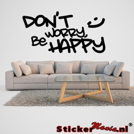 Don't worry, be happy muursticker