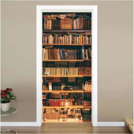 Boekenkast deur sticker