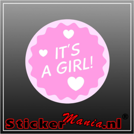 It's a girl geboorte sticker 2