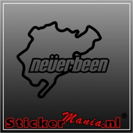 Neverbeen circuit sticker