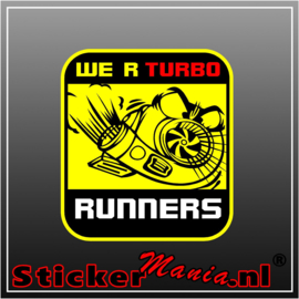 We're Turbo Runners Full Colour sticker