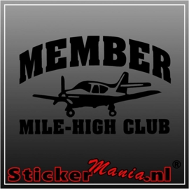 Mile-high club sticker