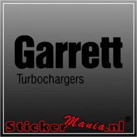 Garrett turbo chargers sticker