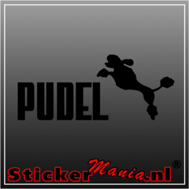 Pudel sticker