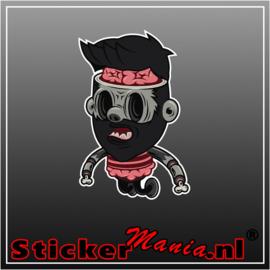 Zombie 4 Full Colour sticker