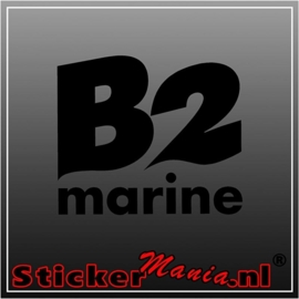 B2 marine sticker