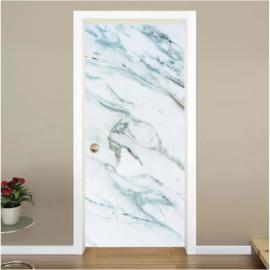 Wit marmer deur sticker