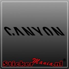 Canyon sticker