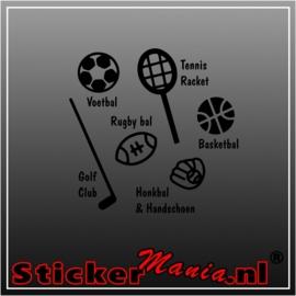 Sport accessoires sticker