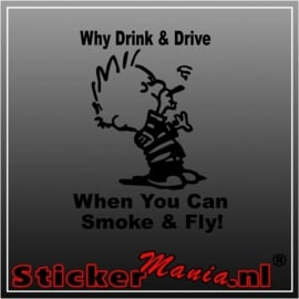 Calvin why drink and drive sticker