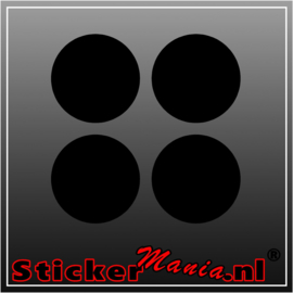 Set van 4 ronde krijtbord sticker