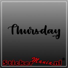 Thursday sticker